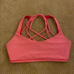Lulu lemon free to be bra (wild) pink
